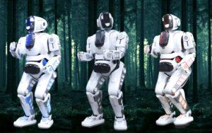 Robots, Robotic Performance by Skeleton Dance Crew, Replica Robot