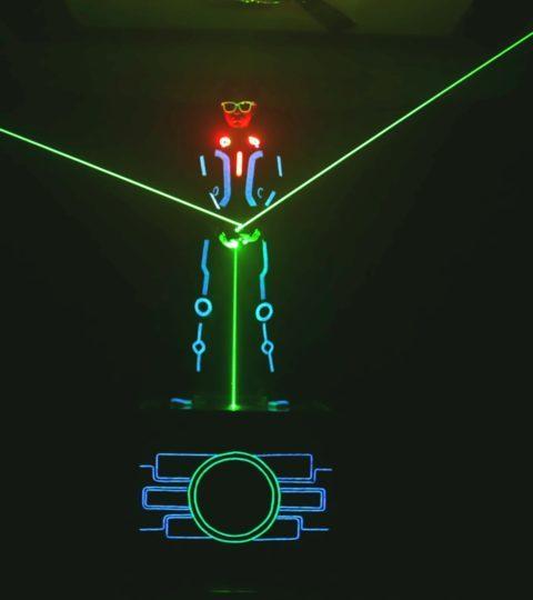 Laserman Act by skeleton dance crew