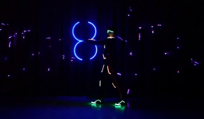 Wow Corporate Event Audience With Tron Dance