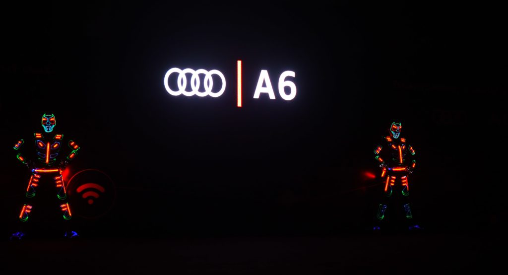 LED Interactive act for Audi