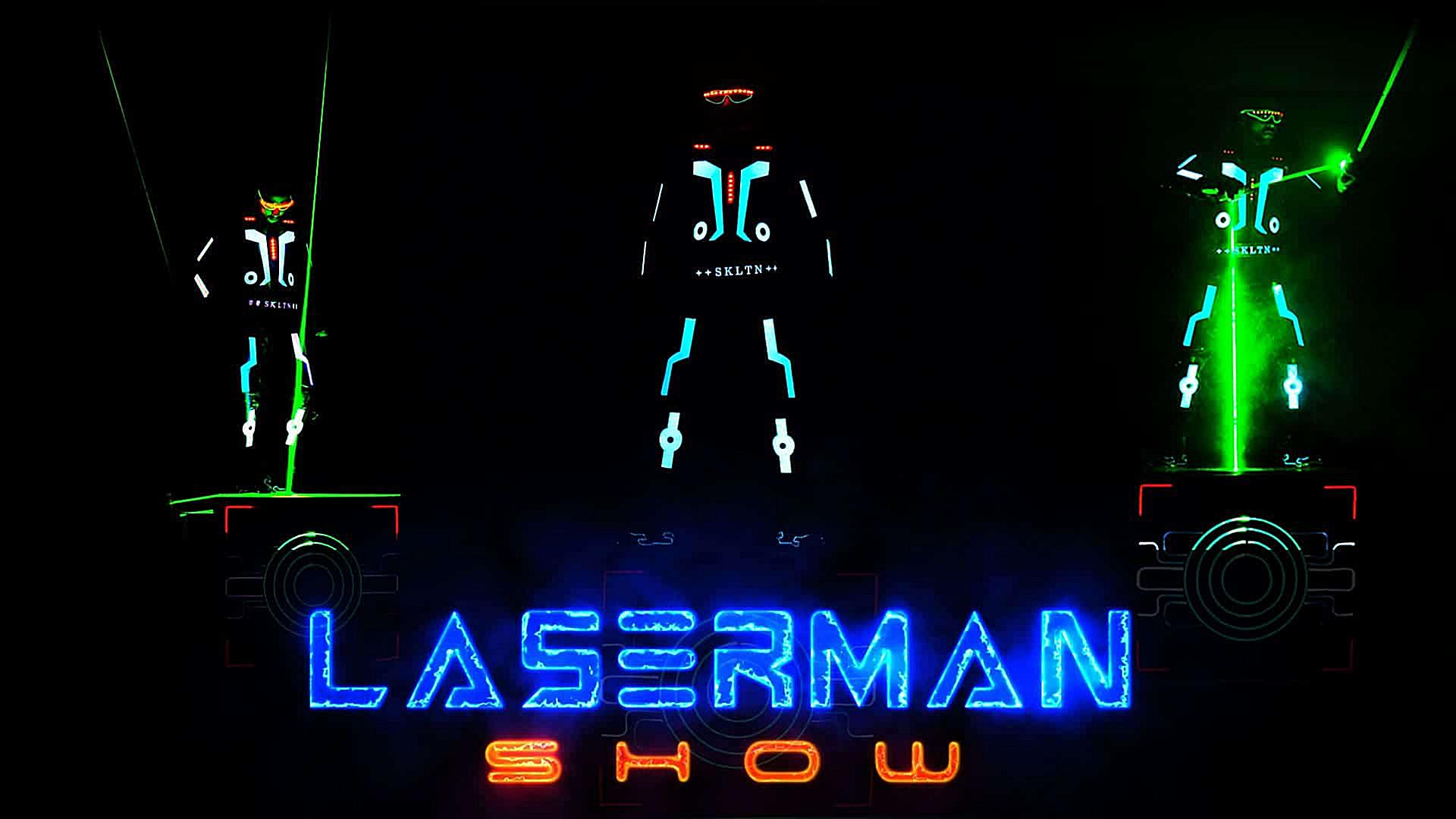 laser light man show