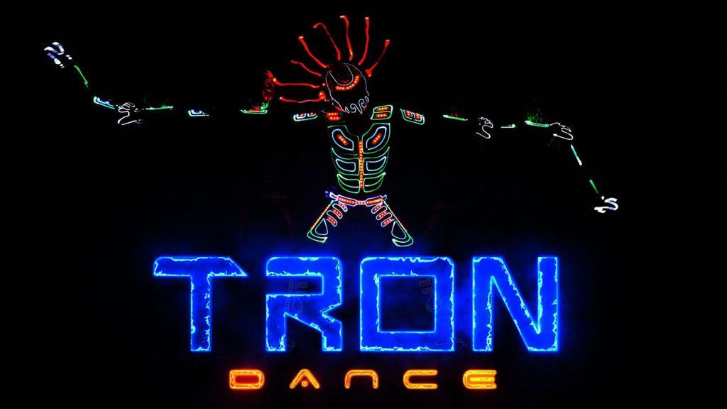 light dance show