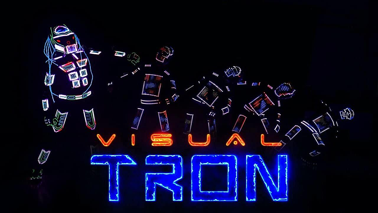 Tron LED costume dance